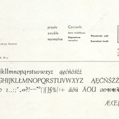 1_Specyfikacja czcionki Bona z Zecerni ASP w Warszawie, fot. Mateusz Machalski