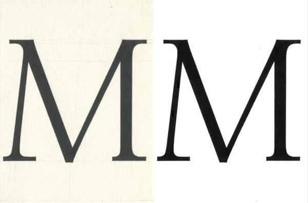 2_Oczyszczony w photoshopie skan litery M, fot. Mateusz Machalski