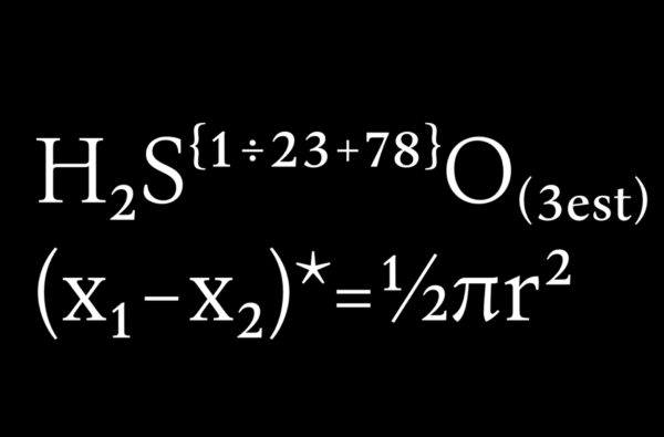 2_Superscript oraz subscript w użyciu