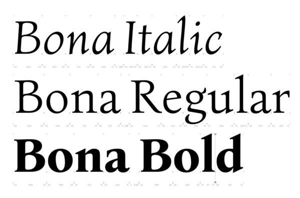 2_Szkicowa wersja triady Bony – Italic, Regular & Bold
