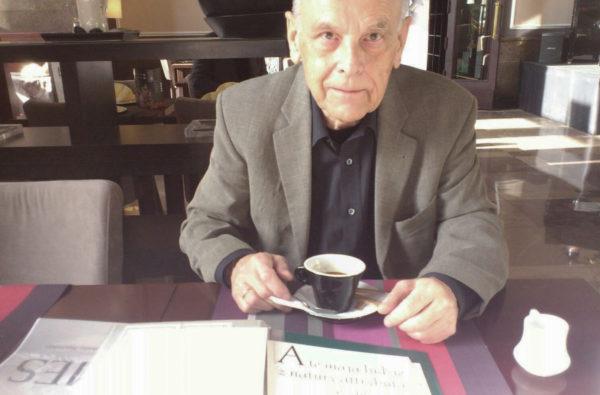 2_Zdjęcie z pierwszego spotkania z Panem Andrzejem Heidrichem w kawiarni Batida. r. 2012, fot. Mateusz Machalski