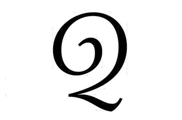 3_Rysunek charakterystycznej litery Q w wariancie swash